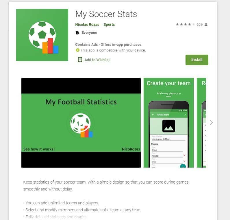 My Soccer Stats