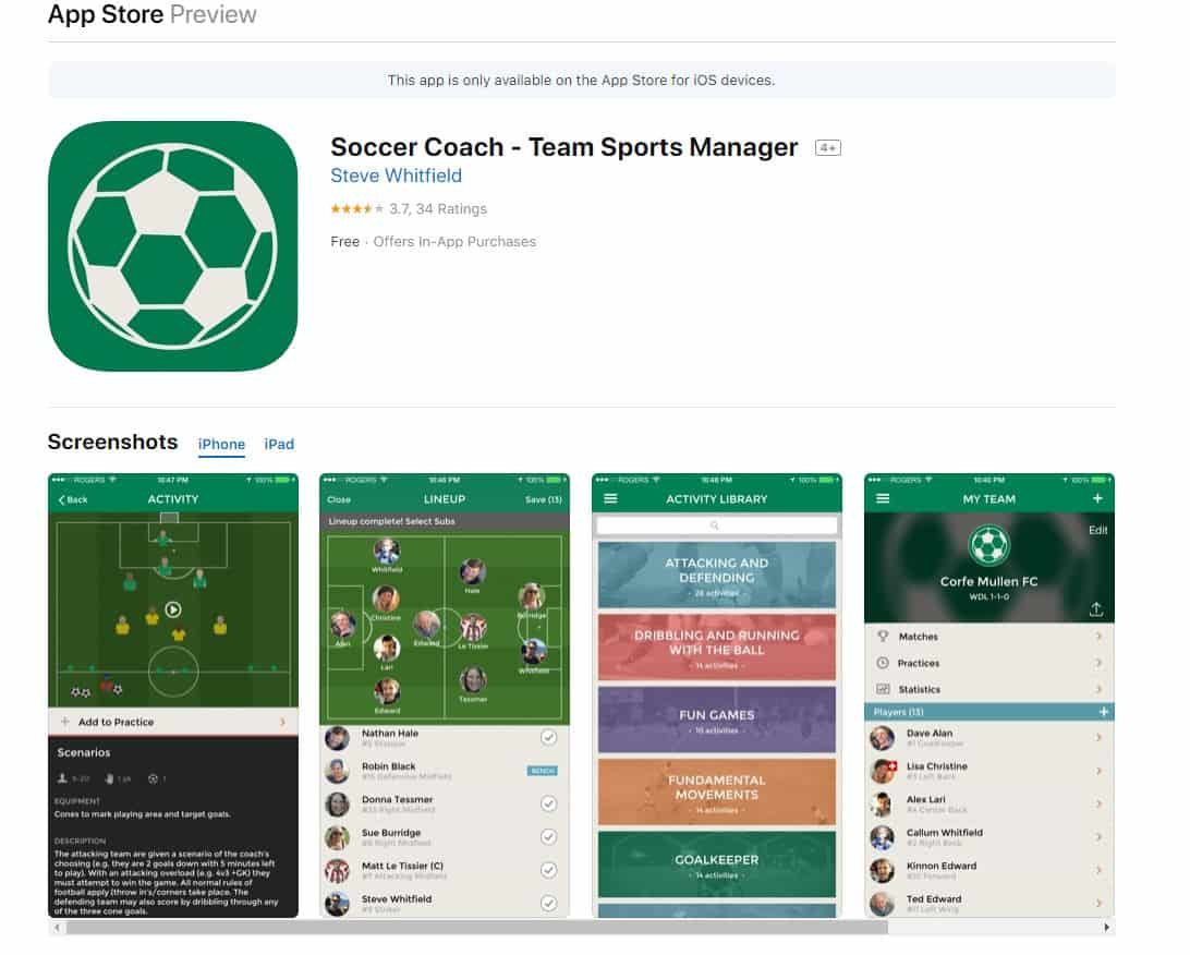 Soccer Coach – Team Sports Manager