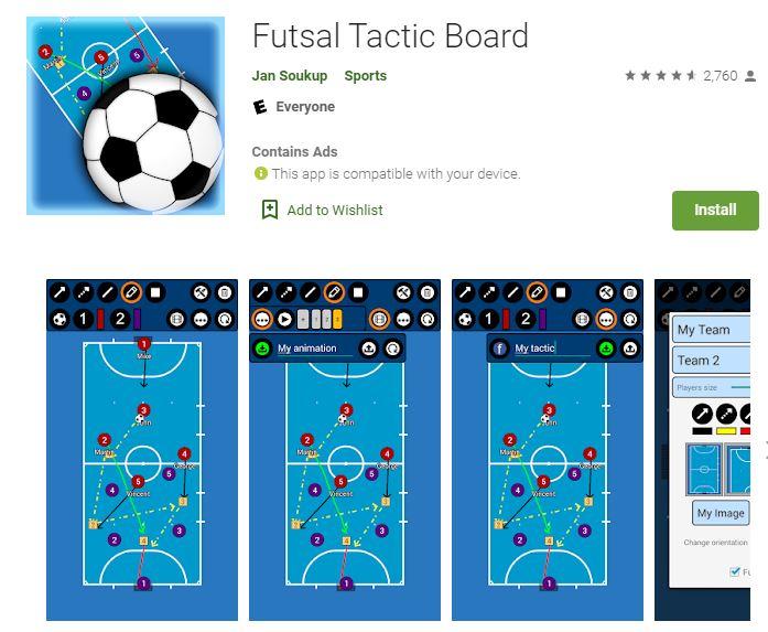 Futsal Tactic Board